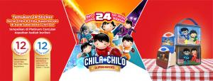 Ayo! Koleksi 12 Stiker Chila Chilo Super Hero dari Morinaga Chil*Go!